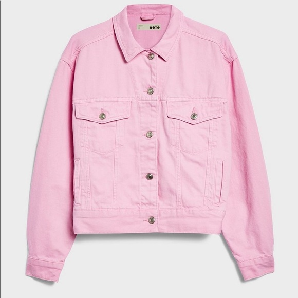 superior performance 2019 best sell replicas Pink Moto Denim Jacket